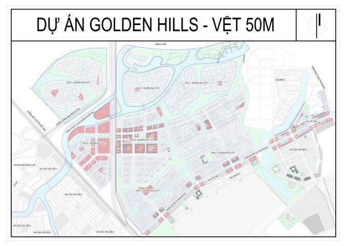 Sơ đồ phân lô Golden Hills