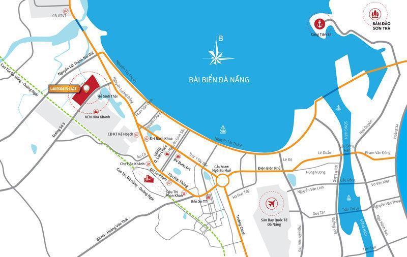 bản đồ vị trí của Lakeside Palace