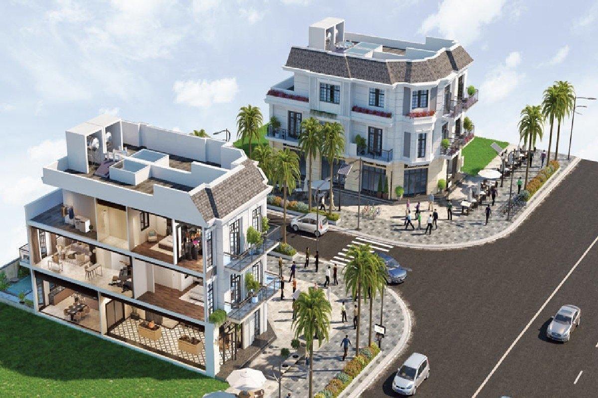 thiết kế shophouse dự án