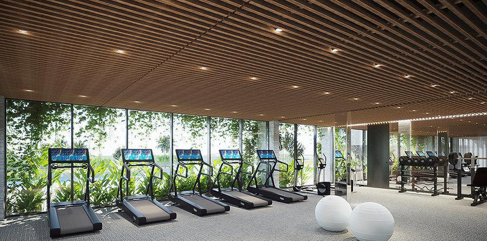 phòng tập Gym và Sauna hiện đại