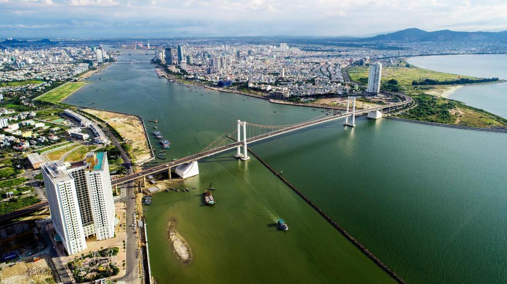 Hình ảnh thực tế từ trên cao dự án Golden Bay Đà Nẵng