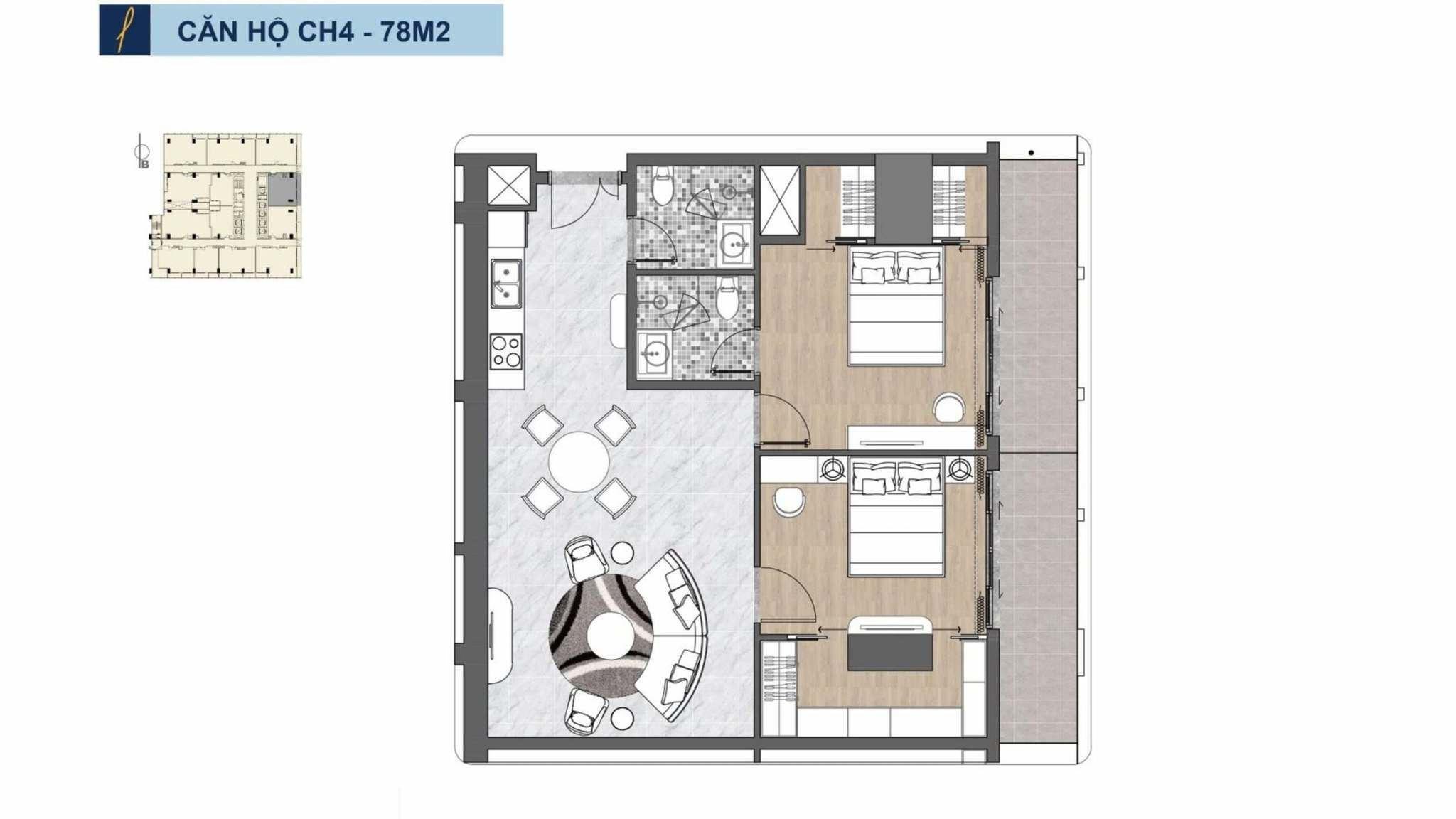 Ch4 78m2 Premier Sky Residences 39