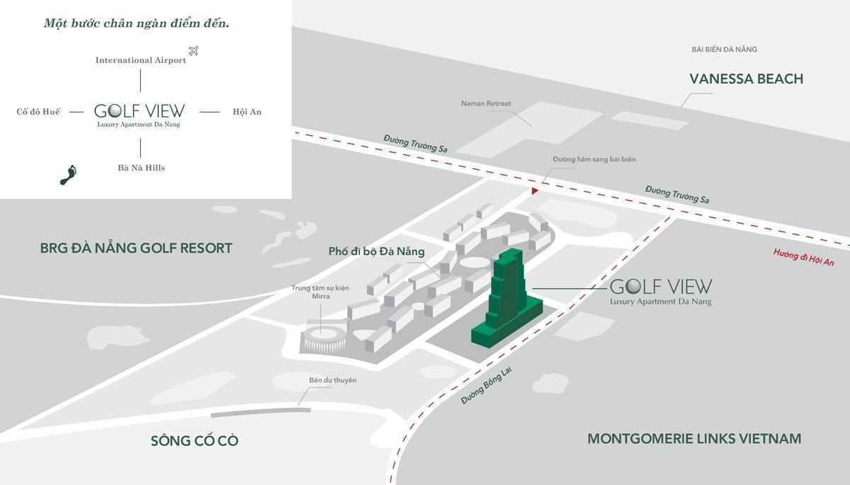 vị trí của Golf View Luxury Apartment